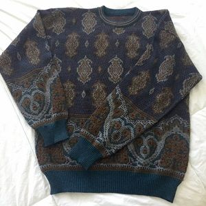 ⚡️Sale⚡️Paisley Crew Neck Sweater
